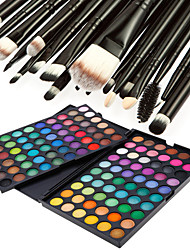 cheap -120 Colors Professional Dazzling Matte&Shimmer 3in1 Eyeshadow Makeup Cosmetic Palette with 20 Eyeshadow Brush Set