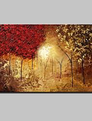 cheap -Large Hand-Painted Landscape Trees Oil Painting On Canvas Wall Art Picture One Panel With Frame Ready To Hang