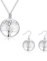 cheap -Women's Cubic Zirconia Jewelry Set - Cubic Zirconia, Silver Plated Tree of Life Include Silver For Party / Daily