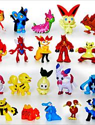 Недорогие -карман мало действий монстра 24pcs цифры мило монстр мини-фигурки игрушки лучший рождественский&подарки на день рождения brinquedos 3см