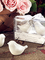 Recipient Gifts - Love Birds Salt and Pepper Shakers Wedding Favors with lovely charm