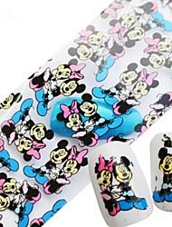 1pcs 100cmx4cm Glitter Nail Foil Sticker Beautiful Feather Lovely Cartoon Lips Nail Decorations DIY Beauty STZXK06-10