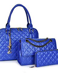 cheap -Women's Bags PU Bag Set 3 Pcs Purse Set for Event/Party All Seasons Blue Gold White Black
