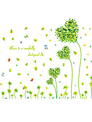 cheap -Romance Green Heart Grass Rural Wall Stickers Environmental DIY Bedroom Wall Decals PVC