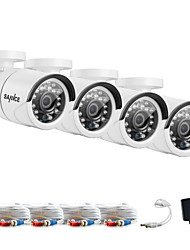 SANNCE®  1080*720 AHD Indoor And Outdoor IR Cut CCTV Camera Kits Weatherproof Home Security System Kits