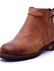Women's Boots Winter Fashion Boots PU Casual Flat Heel  Black / Yellow