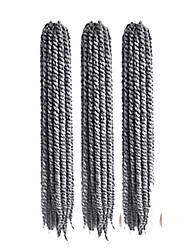 Dread Locks Havanna Senegal Box Zöpfe Gehäkelt Kanekalon Grau Haarverlängerungen 35cm 40cm 45cm 51cm 56cm Haar Borten