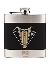 cheap -Groom Groomsman Couple Parents Stainless Steel Hip Flasks Wedding Valentine