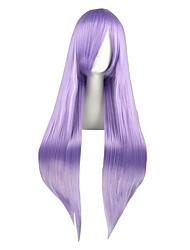 abordables -Pelucas sintéticas Liso Natural Pelo sintético Peluca con trenzas Morado Peluca Mujer Larga Sin Tapa