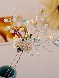 cheap -Plastic Alloy Flowers Hair Pin Hair Tool Headpiece Elegant Style