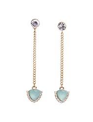 cheap -European Style Luxury Gem Long Earrrings Aristocratic style Drop Earrings for Women Fashion Jewelry Best Gift