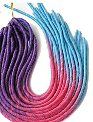 "multi color newest soft dread lock hair faux locs crochet hair, kanekalon synthetic Havana Twist Braid  20"" 100g"