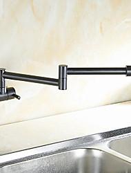 cheap -Contemporary Modern Pot Filler Centerset Pre Rinse Rotatable Ceramic Valve Single Handle One Hole Oil-rubbed Bronze, Kitchen faucet