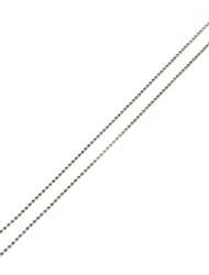 economico -Collane a catena Acciaio inossidabile Di tendenza Argento/Grigio Gioielli Per Quotidiano 5 pezzi