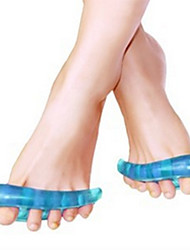 1 Pair Gel Orthotic Toes Straightener Separator Hallux Valgus Foot Holder Blue