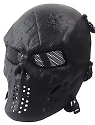 cheap -Black Tactical Protective Mask Skull Mask Army Fans Live Cs Field Essential