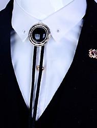 Circular Agate Stone Bolo Tie Artificial Sapphire Men Bola Tie Necktie