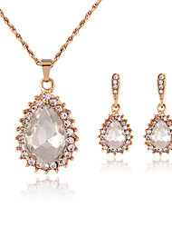 Women's Jewelry Set Necklace/Earrings Adjustable Adorable Gift Boxes & Bags Costume Jewelry Necklaces Earrings For Wedding Party Daily