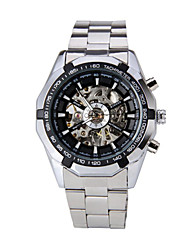 WINNER® Automatic Mechanical Men Watch Tachymeter Dodecagon Case Hollow Dial Stainless Steel Wristwatch Cool Watch Unique Watch