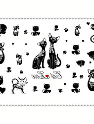 cheap -5PCS Fashion Cat Body Art Waterproof Temporary Tattoos Sexy Tattoo Stickers (Size: 3.74'' by 5.71'')
