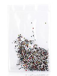 environ 1440 pièces 25 couleurs nail art strass mélangé