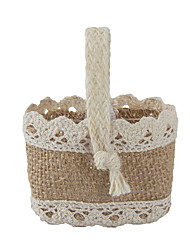 Basket Jute Favor Holder With Favor Bags Favor Tins and Pails-6