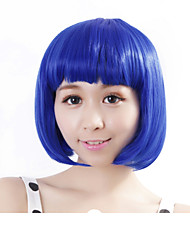 "Neitsi 100% Kanekalon Fiber 14""(35cm) 160g/pc Women's Girl's Cosplay Short Synthetic BOB Hair Wig Blue"