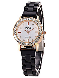 cheap -Women's Fashion Watch / Simulated Diamond Watch Casual Watch Alloy Band Black / White