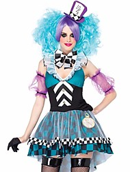 Cosplay Costumes Fairytale Movie Cosplay Blue Dress Hat Halloween Carnival Female