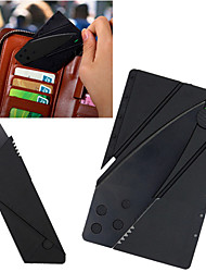 cheap -Novelty Portable Credit Card Knife Kitchen Cutlery Mini Folding Stainless Steel Knife Wallet Camping Outdoor Pocket Tool