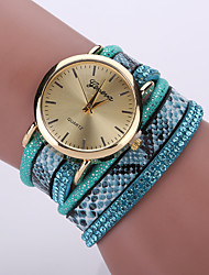 cheap -Women's Fashion Watch / Bracelet Watch / Wrist Watch Cool / / Leather Band Leopard / Bohemian Black / White / Blue / One Year / Tianqiu 377