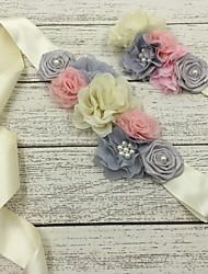 Raso Matrimonio / Party/serata Fusciacca-Fantasia floreale Flower Girl di 130cm Fantasia floreale