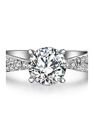 1.5CT Diamond Ring for Women Engagement Jewelry Solid Silver 7.5mm Twist Across Setting Hearts and Arrows Ring