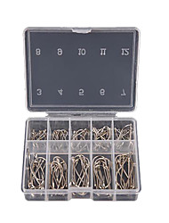 cheap -1 Box 100Pcs 3# - 12# 10 Sizes Steel Jig Hooks with Hole Fishing Tackle
