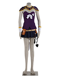 Ispirato da Fairy Tail Lucy Heartfilia Anime Costumi Cosplay Abiti Cosplay Monocolore Top Gonna Guanti lunghi Per Donna