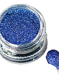 cheap -1 Bottle Nail Art Laser Beautiful Dark Blue Glitter Shining Powder Manicure Makeup Decoration Nail Beauty L11