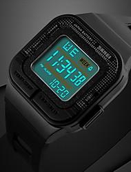 SKMEI Men's Sport Watch Digital Watch Digital LCD Calendar Chronograph Water Resistant / Water Proof Alarm Luminous Stopwatch Rubber Band