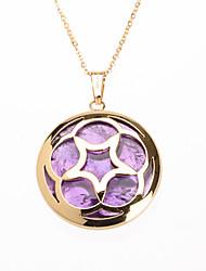 mode incrustation acrylique violet 316l étoile en acier inoxydable pendentif creux