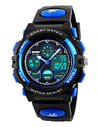 Skmei® Children Dual Time Zones LED Digital Sports Wrist Watch PU Strap Assorted Colors Kids'Strap Watch