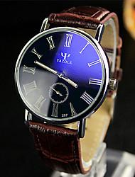 abordables -YAZOLE Hombre Reloj de Pulsera Gran venta / / Piel Banda Casual / Reloj de Vestir Negro / Blanco / Rojo