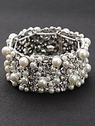 abordables -Pulseras y Brazaletes Cadena Aleación Perla artificial / Cristal De mujeres