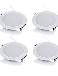 cheap -4pcs/lot 5W Wireless AC 220V Dimmable LED Downlights Warm White / Cool White LED Panle Light White Shape