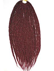 "18"" box braids 3X Bulk Crochet Braids Hair Extensions Latch Hook Twist Braiding Hair"