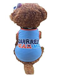 preiswerte -Hund T-shirt Hundekleidung Atmungsaktiv Buchstabe & Nummer Blau-Gelb Kostüm Für Haustiere
