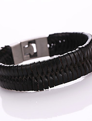 Punk Leather Bracelet Ring Hand Woven Leather Bracelet With Individuality Tide Restoring Ancient Ways Player