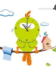 cheap -Creative DIY Cartoon Big Bird Wall Clock With Wall Stickers Children's Bedroom Home Decor