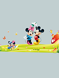 cheap -Cartoon Mouse Cartoon Wall Stickers Environmental Living Room Bedroom Wall Decals