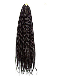 "cheap -18"" box braids 3X Bulk Crochet Braids Hair Extensions Latch Hook Senegalese Havana Mambo Twist Braiding Hair"