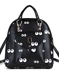 cheap -Women's Bags PU Cowhide Backpack Cover Bow(s) Flower for Casual Outdoor Spring All Seasons Black