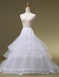 mariage glisse un slip en ligne de longueur de plancher en nylon avec des accessoires de mariage